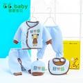Hot 5 pçs/set Roupas de Bebê Menino Definir Bebê Recém-nascido Roupa Da Menina Set Set Bebê Manga Longa Outono Inverno Recém-nascidos de Desenhos Animados Quente algodão