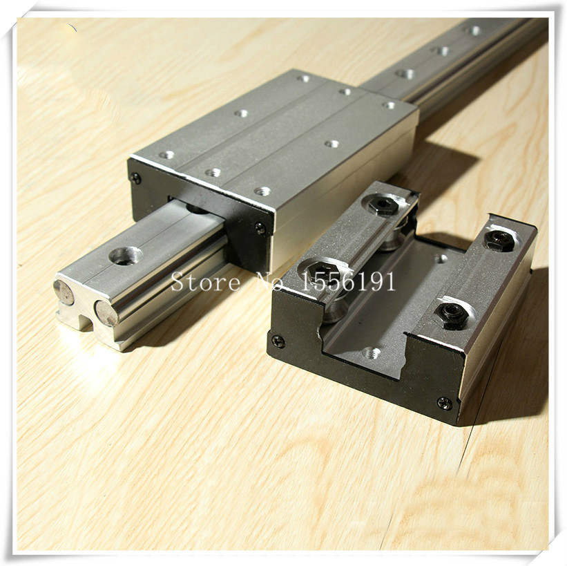 1 pièces LGD12-160L huit blocs de patinage à roulettes, sans guide linéaire à Double axe, roulements à glissière linéaire