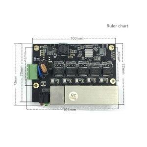 Image 4 - לא מנוהל 5 יציאת 10/100 M Ethernet התעשייתי מתג מודול PCBA לוח OEM אוטומטי חישה יציאות PCBA לוח OEM האם
