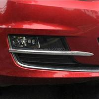 Fit For Volkswagen VW Golf 7 2013 2014 High Quality Chrome Front Eyelid Eyebrow Fog Light