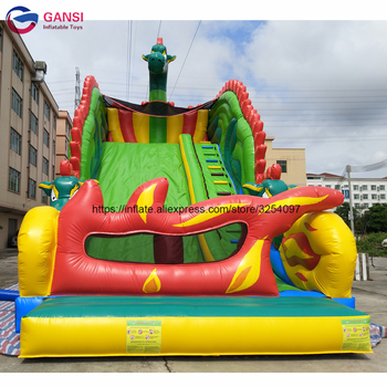 Big inflatable slide for birthday party rental cool design Inflatable Bouncy Slide with free air blower outdoor games pvc inflatable bouncy castles for children with blower