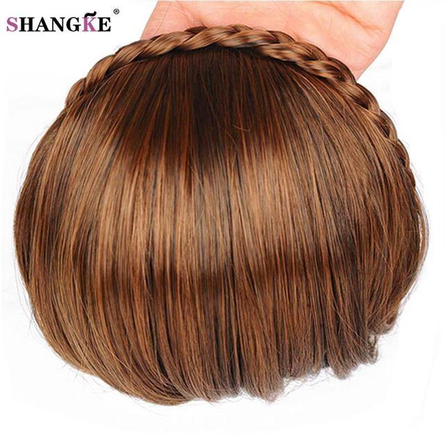 Shangke Kurzen Zopf Haar Pony Natürliche Gefälschte Haarteile