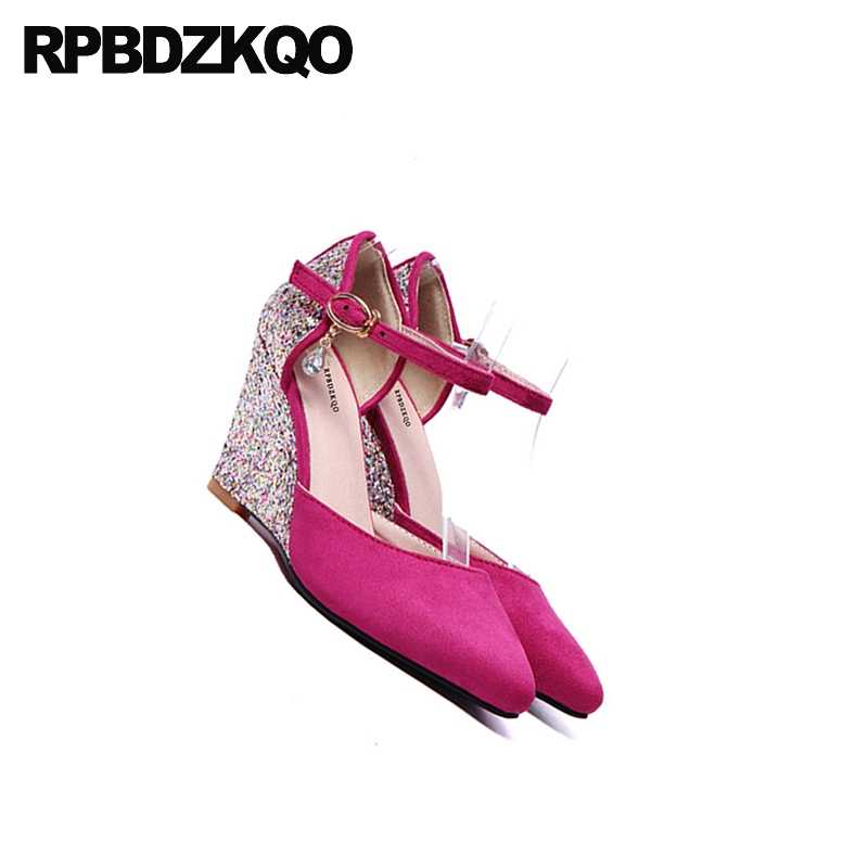 ... Pumps Big Size Glitter 11 43 10 42 3 Inch Purple Wedding Shoes Dress Pointed  Toe ffb6d67fdbaf