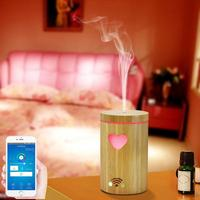 Wi Fi Aroma Essential Oil Diffuser Aroma Air Humidifier Xmas Tree Pattern Color Changing LED Lights