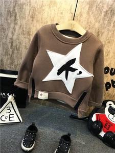 Image 4 - New Children Kids Boys Clothing Sets Autumn Winter Baby Boys Fur collar denim jacket + sweater + jeans 3Pcs boys Clothes set