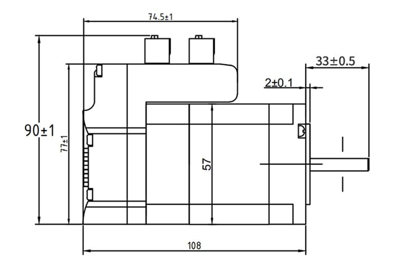 IHSV57 30 10 Integrated AC Servo motor Drive set DC36V 100W 3000RPM 0.29NM Y - 6