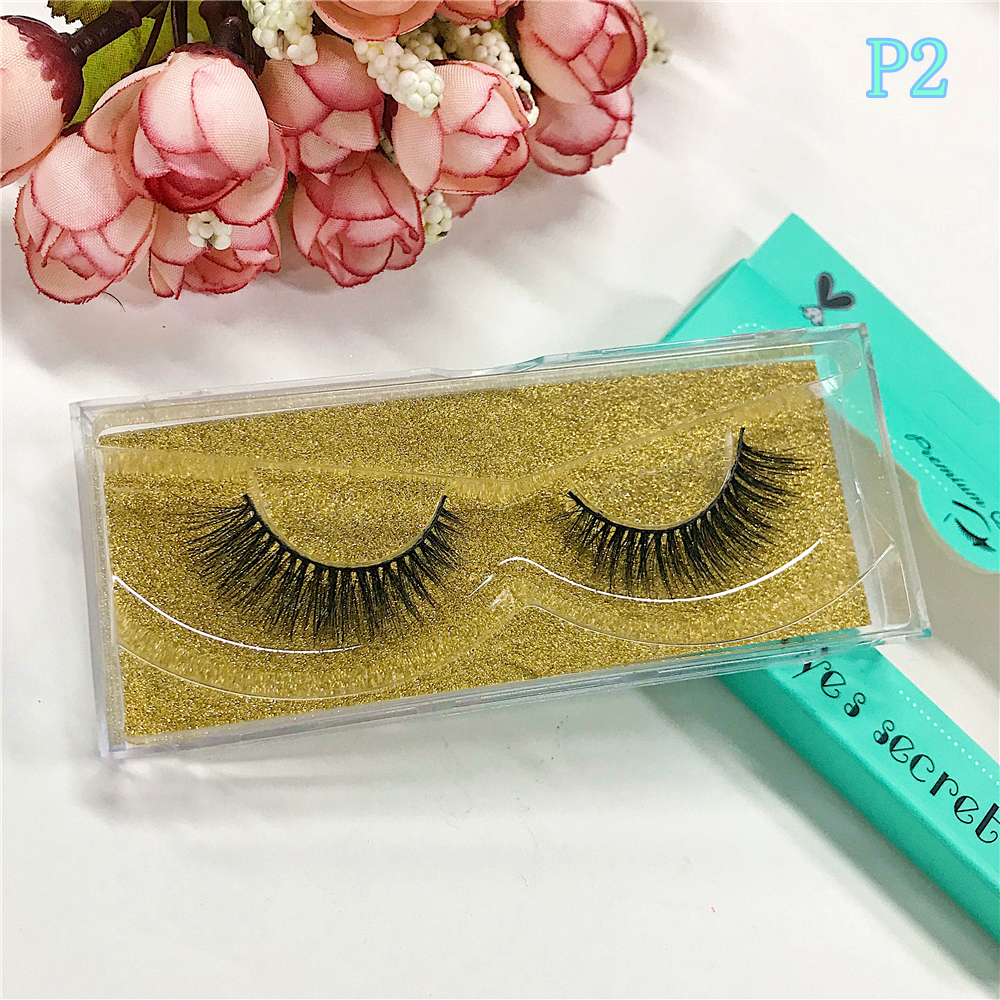 BigEyes Secret 10Pairs Mink Pairs Strips 3D Mink Eyelashes Extensions False Mink Individual Lashes Custom packaging
