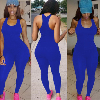 2018 Backless Slim Rompers Sexy Women leggings Jumpsuits  Fitness Set One Piece Jumpsuit fashion designer 4