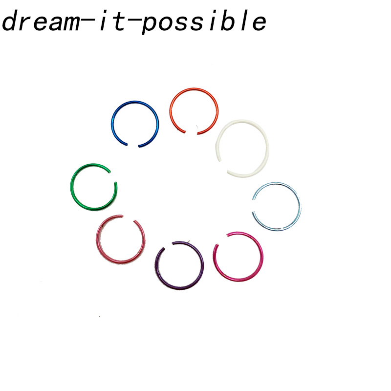 Dream-It-Possible Surgical Steel Hinged Segment Ring Jewelry Piercing Titanium Multicolor
