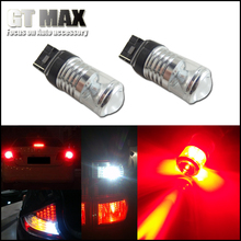 2pcs Brilliant Red 7443 7440 LED Reflector Bulb Diffusion Mirror Projector Bulbs For Car Tail Brake Rear Turn Signal Lights