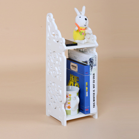 Creative storage shelf carved book shelf can be washed storage rack home orgainzer