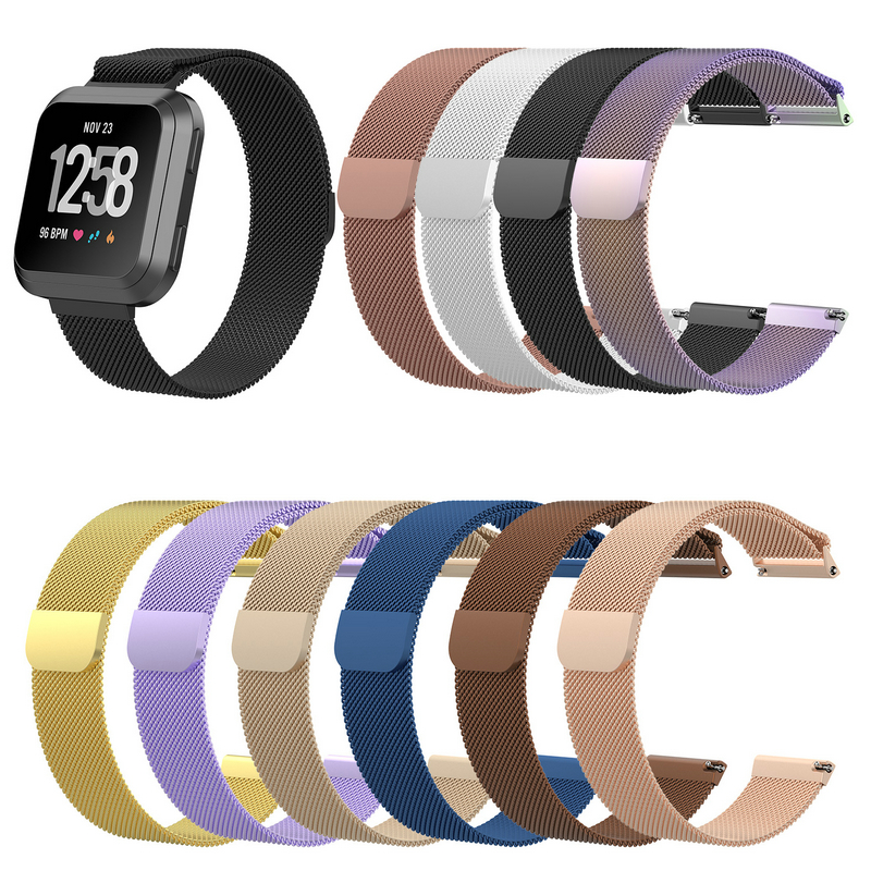 SIKAI Milanese Magnetic Loop Watch Band For Fitbit Versa Stainless Steel Replace Straps Smart Watch Wristband For Fitbit Versa все цены