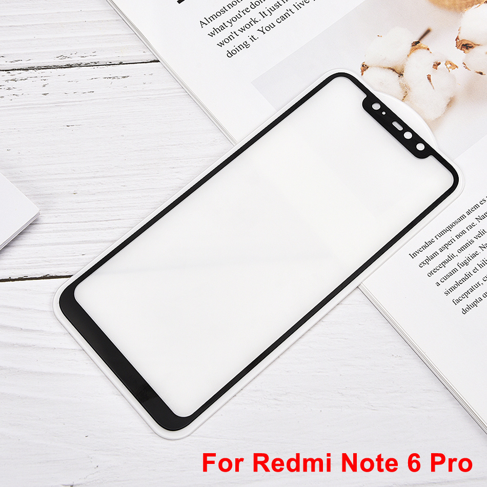 Image 5 - For Redmi Note 6 Pro Screen Protector 9H Tempered Glass Protective Film Cover For Xiaomi Redmi 6A Pocophone F1 Mi 8 Lite-in Phone Screen Protectors from Cellphones & Telecommunications