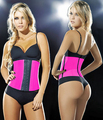 free shipping Pink Women Latex  Rubber  Boned Corset Shapewear New  XS-3XL