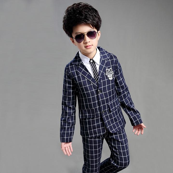 New Arrival Big Boys Plaid Suit Wedding Suits for Boy Coat+Pant ...