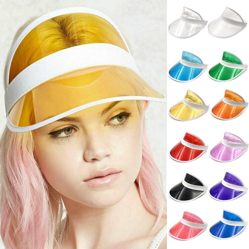 12Colors Visors Unisex Neon Visor Hat Headband Sun Cap Golf Party Sport Tennis Hat Sunscreen Cap Скульптура