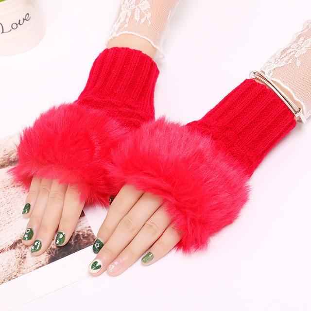 Winter Knitted Gloves New Wrist Trim Gloves 4
