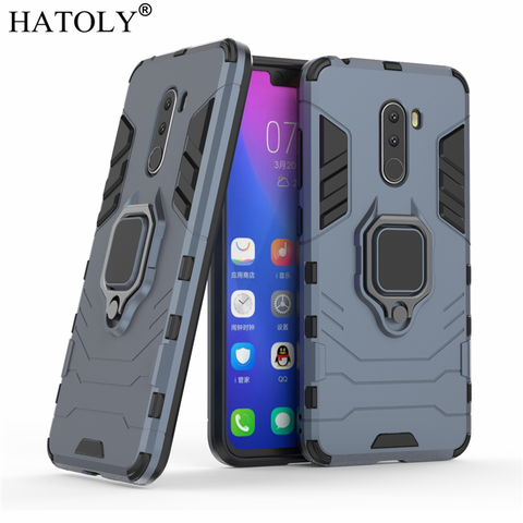 For Xiaomi Pocophone F1 Case Cover Magnetic Suction Ring Bracket Cases Silicone Hard Armor Cover Xiaomi Pocophone F1 Little F1 Lahore