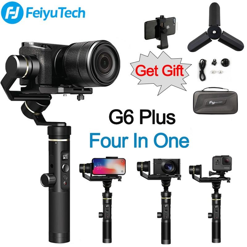 FeiyuTech Feiyu G6 плюс брызг ручной карданный 4 в 1 стабилизатор для смартфонов Gopro hero беззеркальных камер sony as6000