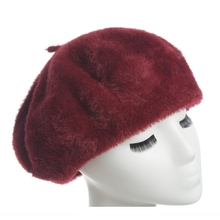 2018 Autumn Winter lady New warm Beret cap Imitation mink hair women Hat for chapeau pour les femmes