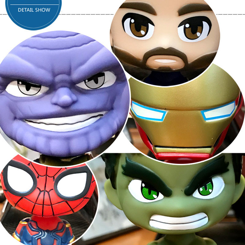 Image 2 - Car decoration Avengers Defensive shaking head statue doll decoration solar car interior home decoration car accessories gift-in Ornaments from Automobiles & Motorcycles