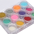 1 Box 2g Mermaid Nail Glitter Powder Pretty Gradient Shimmer Glitters Pigment Nail Powder Dust Laser Nail Art Decorations