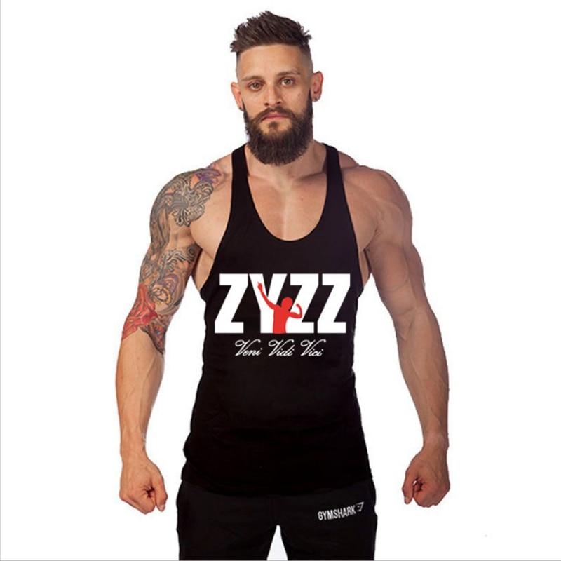 ZYZZ Tank Top Men Bodybuilding Clothing Fitness Singlet Sleeveless Mens Gyms Clothes Body Stringers Print Vest Tops Coletes Man