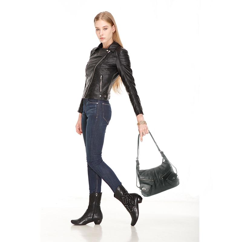 Femeile neagră umăr geantă de mână retro elegant lady tote - Genți