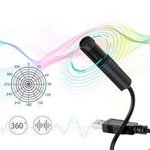 USB Microphone Anti-Noise Adjustable Portable Audio Voice Tube Desktop Computer Skype Sing for Linux Windows OS