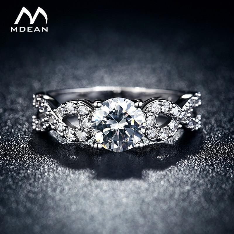 חתונה טבעות לנשים לבן זהב צבע תכשיטי יוקרה בציר bague עבור גברת zirconia אביזרי תכשיטים מלאכותיים גודל 5-12 MSR099