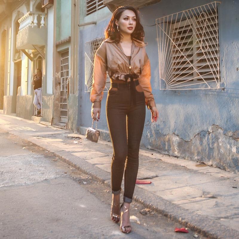 Palais Hosen Frauen Sommer Stretch Hohe Dunkles Sexy Vintage Typ Denim Jeans Aushöhlen Grau Stoff Sehr 2018 Entwickelt Dünne Le Aufstieg Lange 4dFqg4