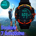 Luxury brand men women digital compass hiking led sports watches 50M waterproof women multiple time zone stop watch