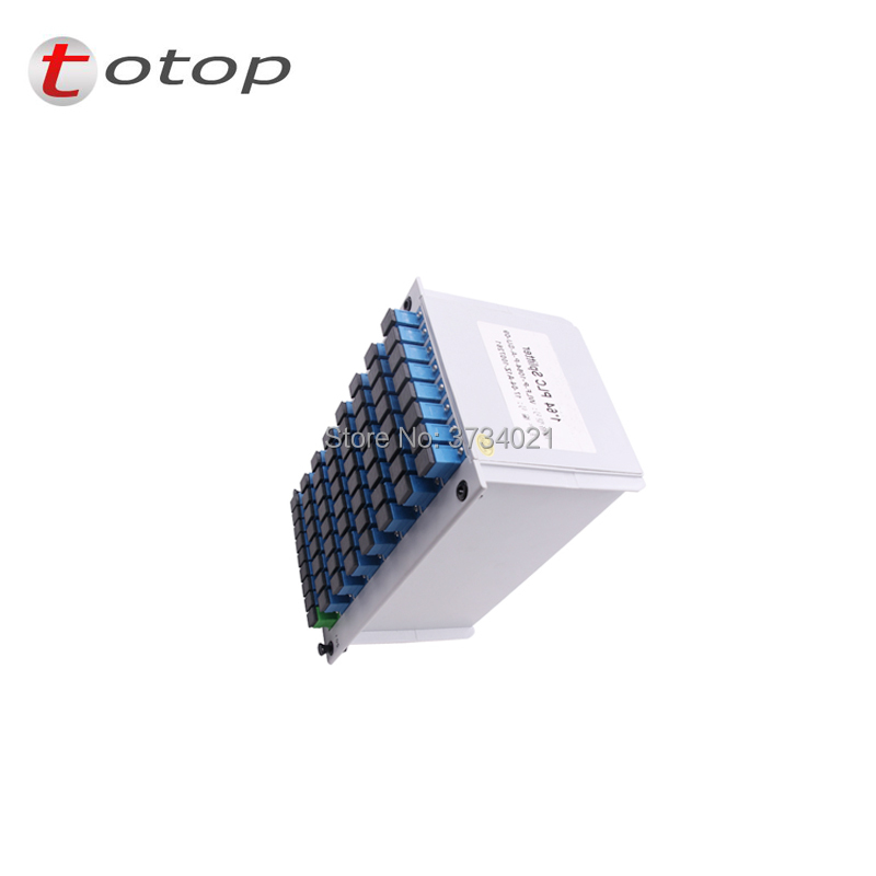 SC UPC PLC 1X64 splitter Fiber Optical Box FTTH PLC Splitter box with 1X64 Planar waveguide type Optical splitter Free shipping