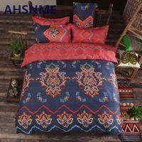 AHSNME 4Pcs Luxury And Comfortable Breathable Variety Of Colors Bohemian Bedding Set North Twin To King