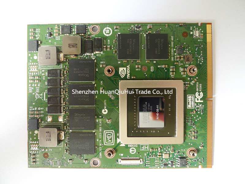 original GTX770M <font><b>GTX</b></font> <font><b>770M</b></font> For Dell Alienware m15x M17X M18X 3G GDDR5 MXM 3.0 graphics video card board N14E-GS-A1 test good image