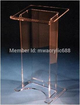 Púlpito muebles envío gratis alta solidez diseño moderno barato atril de acrílico transparente de acrílico podio