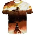 Chegam novas homens mulheres verão t ocasional shirts rua moderno 3d camiseta clássico Anime Attack on Titan camisetas tops