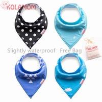 KOLAMOM Fashion Cool Cotton Bandana Bibs Burp Triangle Infant Baby Bib Saliva Dribble Waterprof babero babador bavoir Bandanas