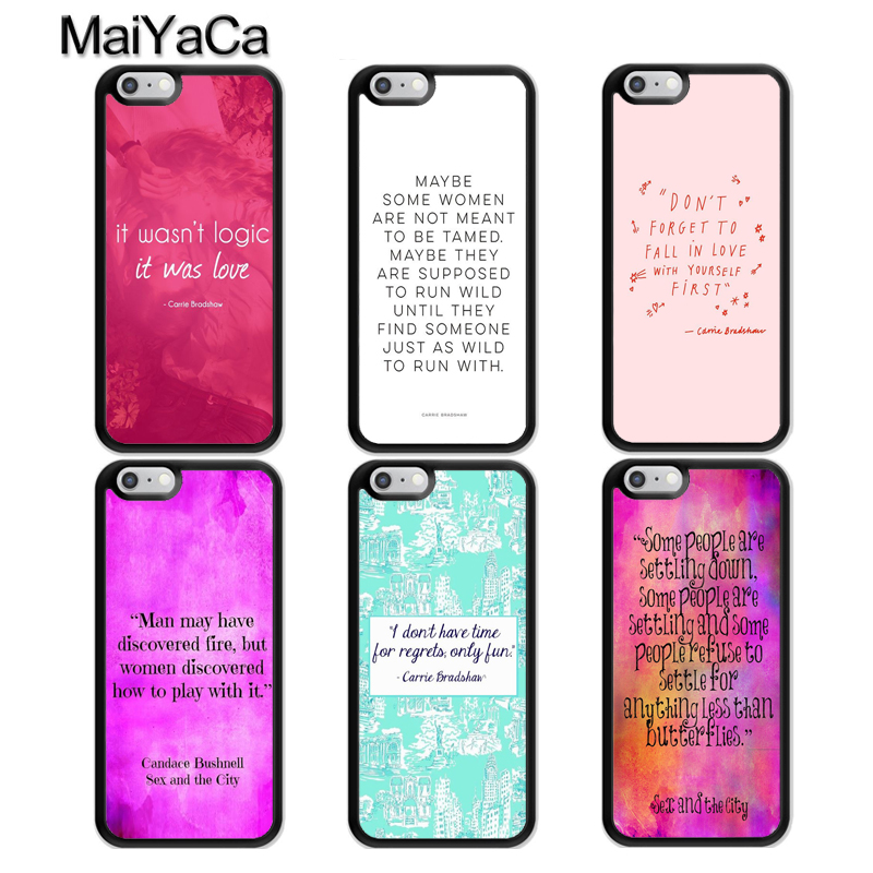 MaiYaCa <font><b>Sex</b></font> and the City Carrie Bradshaw Quotes <font><b>Case</b></font> For <font><b>iphone</b></font> 11 Pro MAX X XR XS MAX SE 2020 6S <font><b>7</b></font> 8 <font><b>Plus</b></font> 5S Back Cover Fundas image