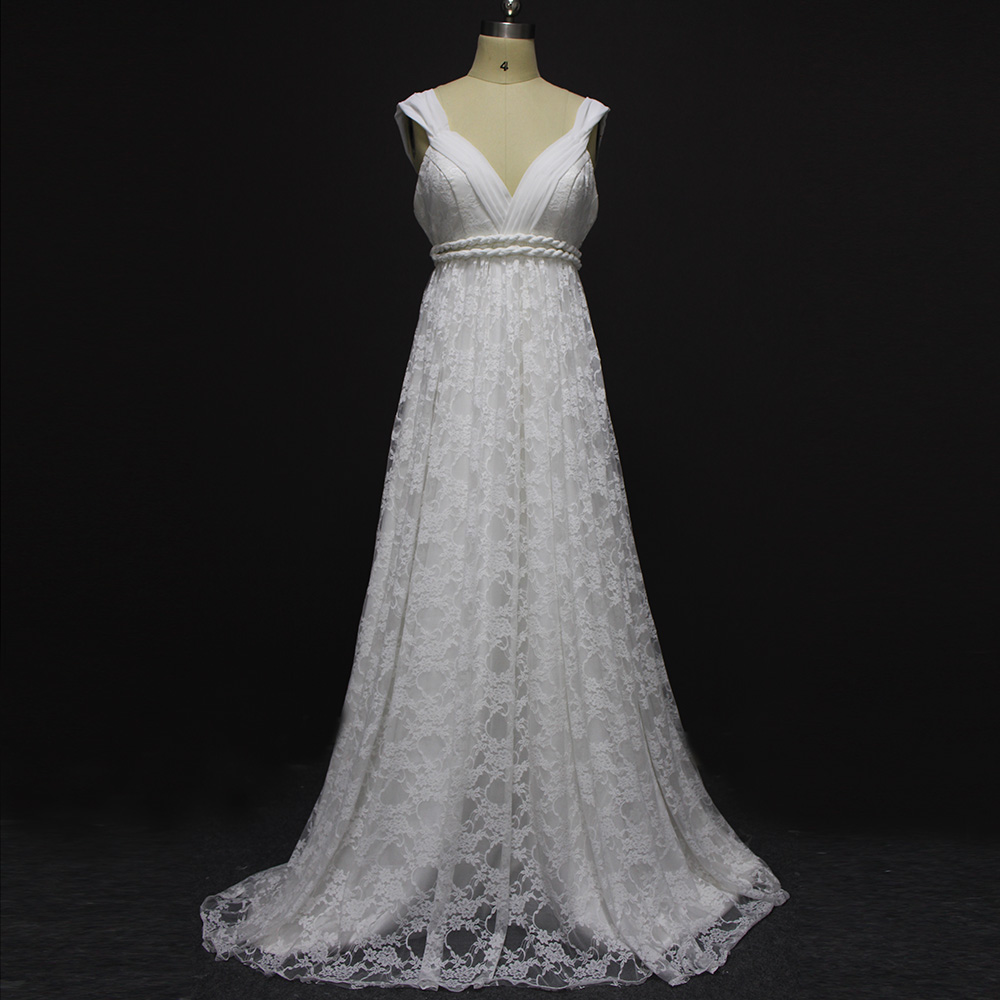 Buy vintage bohemian boho wedding dress for Vintage wedding dresses plus size