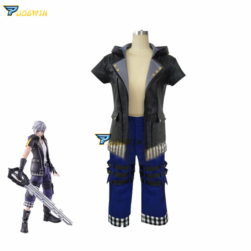 Game Kingdom Hearts 3 III Riku Cosplay Costume Uniform Outfit Custom Made Any Size
