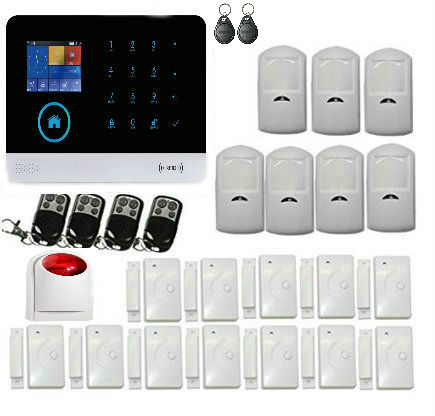 Yobang Security wifi GSM Alarm System TFT Android IOS APP Touch keypad Android ISO App Smart Home Burglar Alarm System DIY smart android ios app controlled home alarm system touch keypad wifi gsm alarm system with pet immune motion detector siren horn