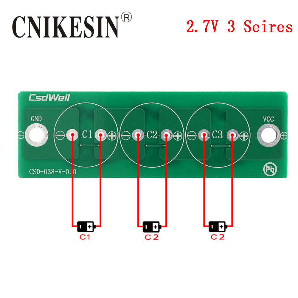Cnikesin 500f 27v Farah Capacitor 25v500f Super Double Layer Supercapacitor Car Audio Wiring 3 Seires Equalizer Board Protection 30f 50f 100f