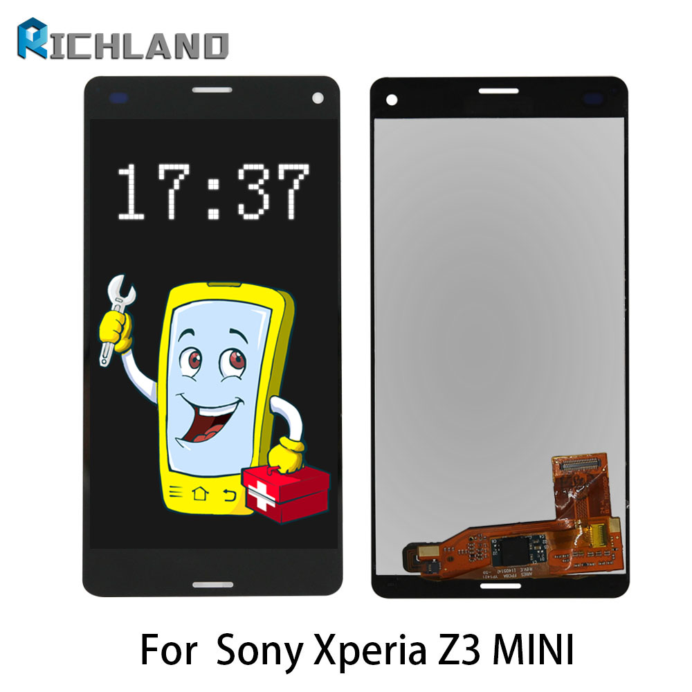 ORIGINAL Touch Screen For SONY Xperia Z3 Compact Display Z3 Mini D5803 D5833 LCD Display Digitizer Assembly Z3 mini LCD panel