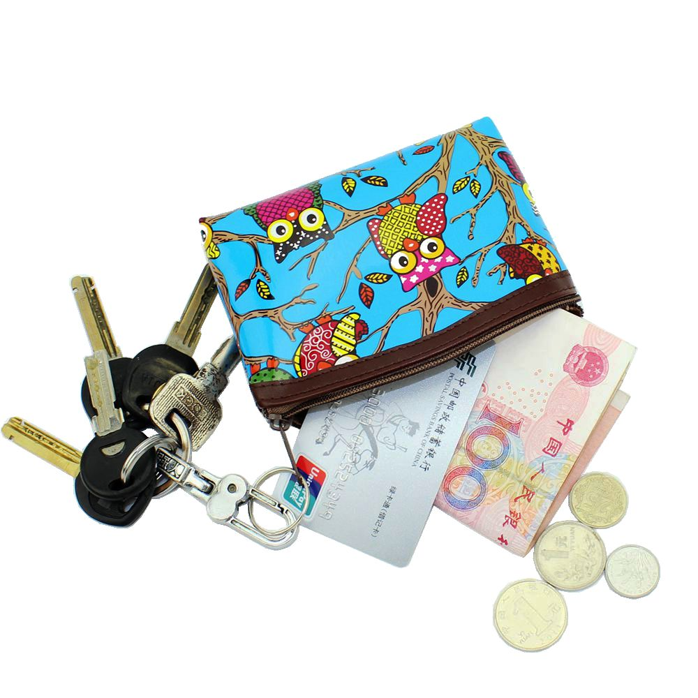 Cute Owl Coin Wallets Women Coin Purse Patent Leather Wallet Change Purse Ladies Clutch Zipper Coins Keys Bag Female Money Pouch