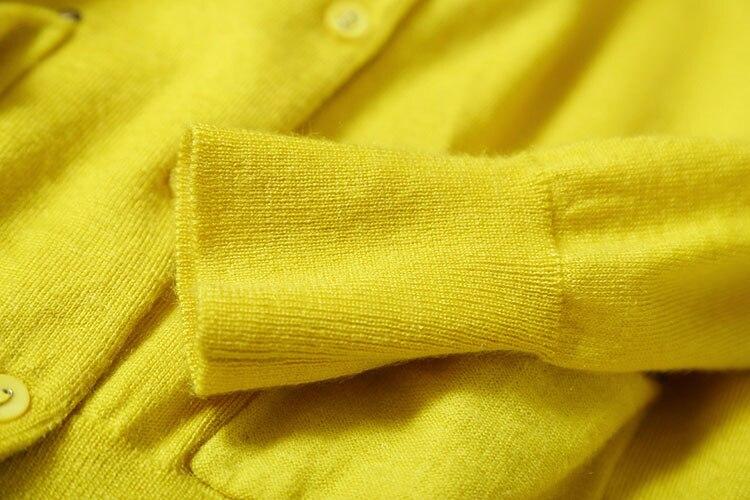 palm Nail l Mélange Printemps Grey 5 Cardigan Manteau Poches Chandail De Bases blue Automne neutral Couleur cou Femmes O yellow Promotions M Red Perles Black Laine BgnUB7