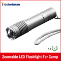 100% Authentic lanterna 2000 Lumens waterproof 3 Mode CREE Q5 LED Flashlight Zoomable adjustable Torch by 1*18650 Free shipping