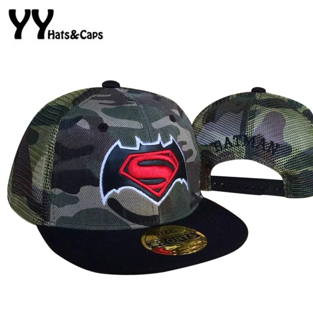 c2db590f146 New Baseball Cap kids Cotton Snapback Camouflage Mesh Snap Back Hats Boys  Character Embroidery Hat Children Hip Hop Bone YY17057