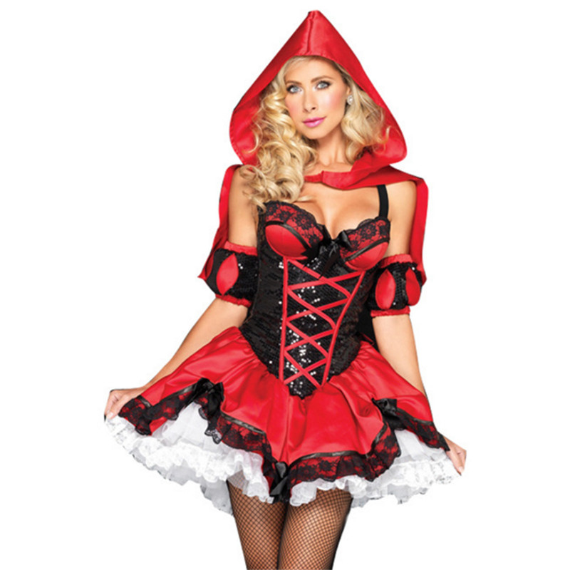 Halloween fairy tale Little Red Riding Hood costume Princess cosplay Dress DS clothing Christmas costume uniform party role play
