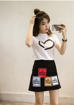 Mr.Nut Trend Summer Korean Version Of The Ladies Suit Korean Version Of The Hong Kong-Style Girlfriends Sister Two-Piece Suit